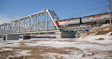 Железнодорожный мост через Ахтубу  способствует развитию МТК «Север-Юг»